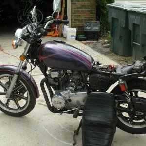 My sons' 81 XS400 45 minutes from a $100 junker to a running bike - took him two days to kill it again :(