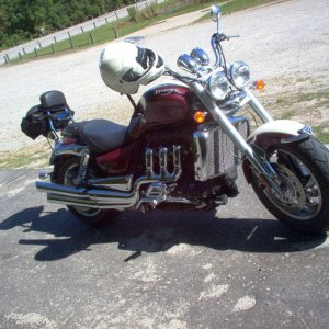 2006 Triumph Rocket 3 Classic on the road in N.C.